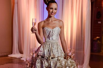 Colorado DMC and Destination Management Company (DMC) Corporate Event Planning Company Imprint Group Champagne Dress